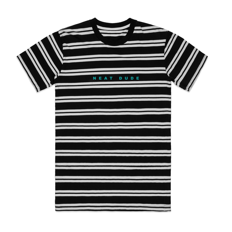 Embroidered Stripe Tee - Black/White