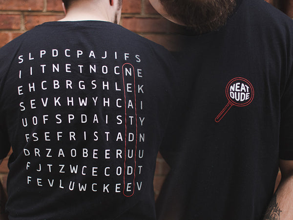 Word Search Tee - Black