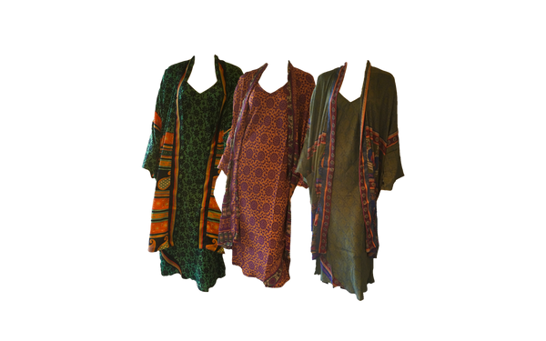 Recycled Sari Robe and Nightdress Set