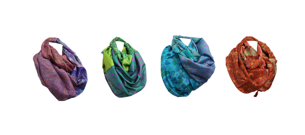 Recycled Sari Infinity Scarves