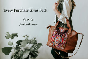 Click to learn how your purchase of our leather purses give back to the artisans who make them
