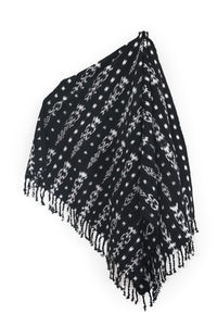 Black & White Tassle Throw