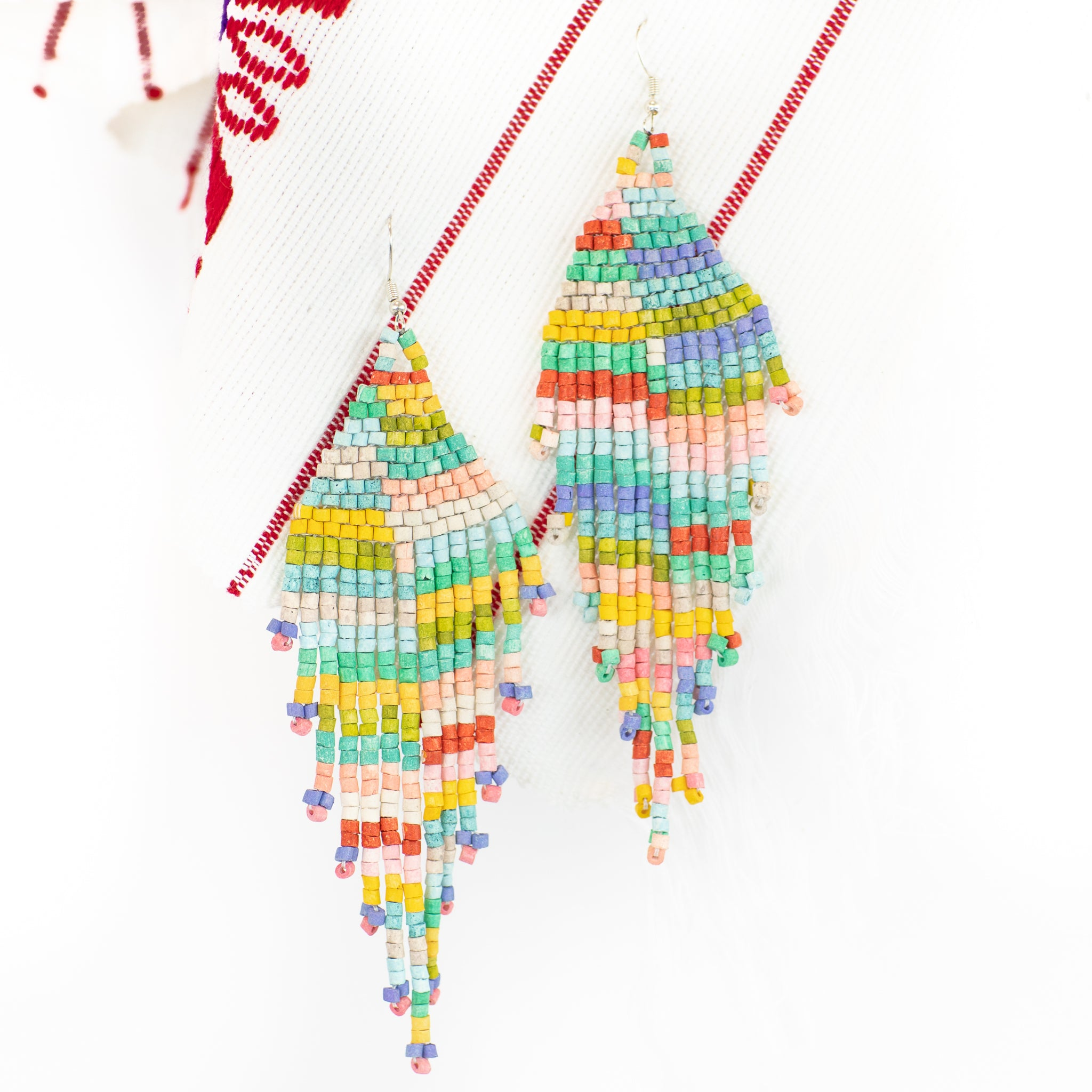 Sunshine Fringe Ceramic Earring