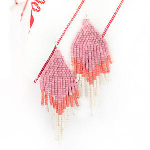 Ombre Fringe Ceramic Beaded Earring