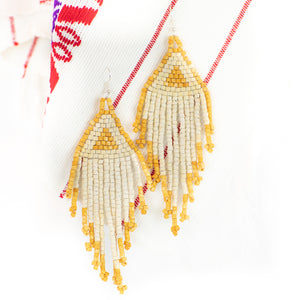 Golden Hour Fringe Ceramic Beaded Earring