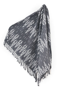 Grey Tassle Throw