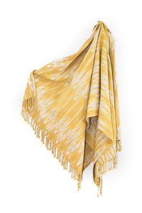 Mustard Tassle Throw