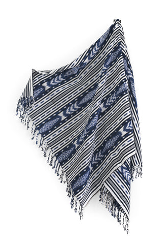 Navy Tassle Throw