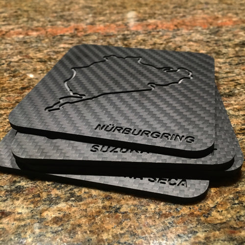 The Original Time Attack Carbon Fiber Coaster Set