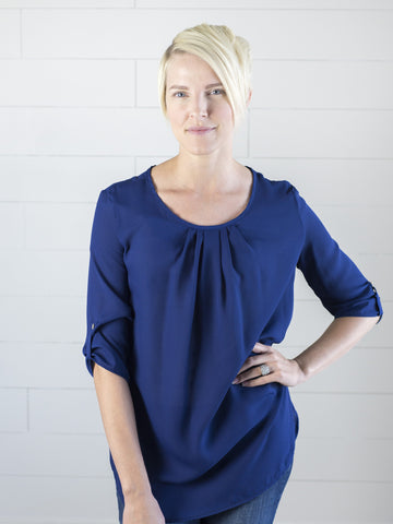 Pleated Front Top - Simply Fate
