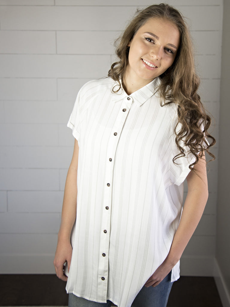Ivory Striped Blouse