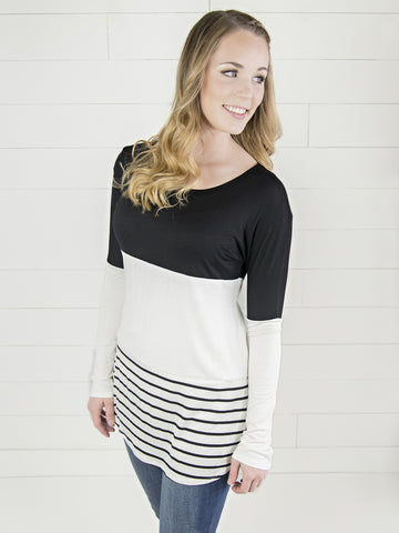 Lace & Colorblock Tunic