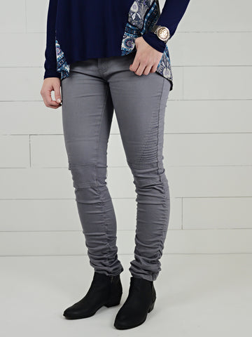 Ruched Ankle Moto Jeggings