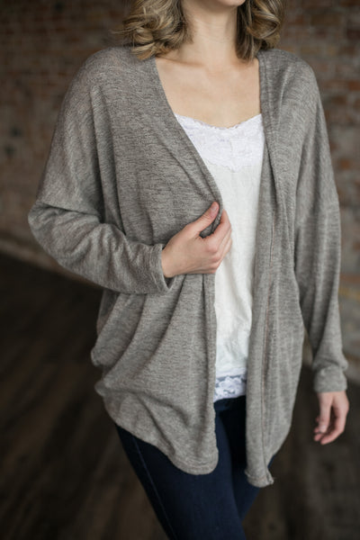 Heathered Open Cardigan