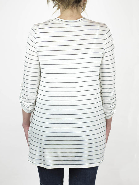 Rolled Sleeve Stripe Tunic - Simply Fate - 3