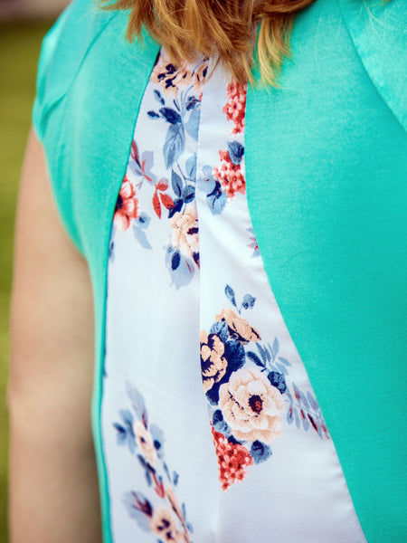 Peek-A-Boo Floral Top