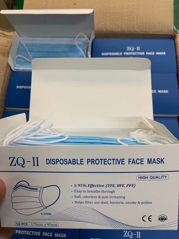 ZQ-II Disposable Protective Face Masks