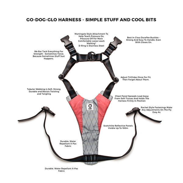 Walking / Running Harness - Stunt Puppy Go-Dog-Glo