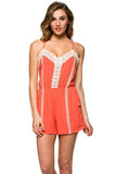 Sunset Road Lace Trim Romper - Thread Affair