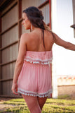 Beach Babe Tassle Romper-Pink - Thread Affair