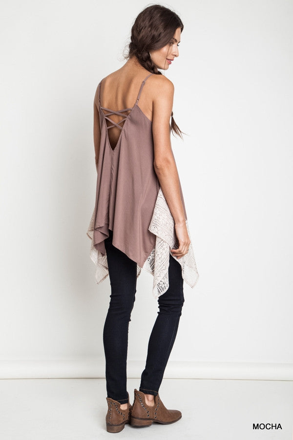 Malia Asymmetrical Tunic Tank Top - Thread Affair