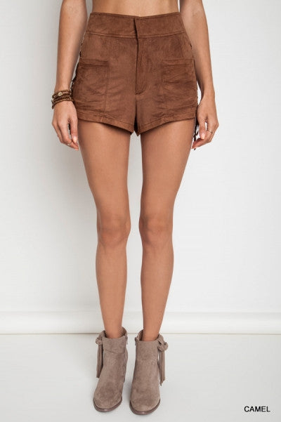 Suede Away with me Shorts - Thread Affair