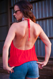 Bring the Heat Drape Tank Top - Thread Affair
