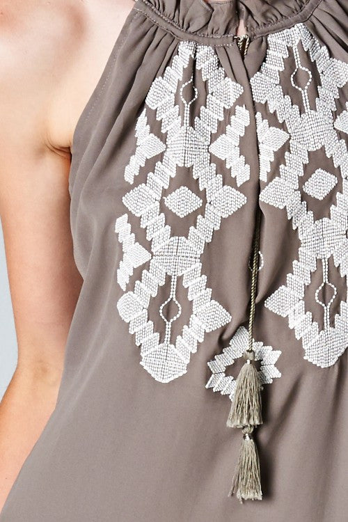 Gisele Embroidered Maxi Dress - Thread Affair