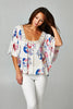 Emma Floral Print Tunic Top - Thread Affair