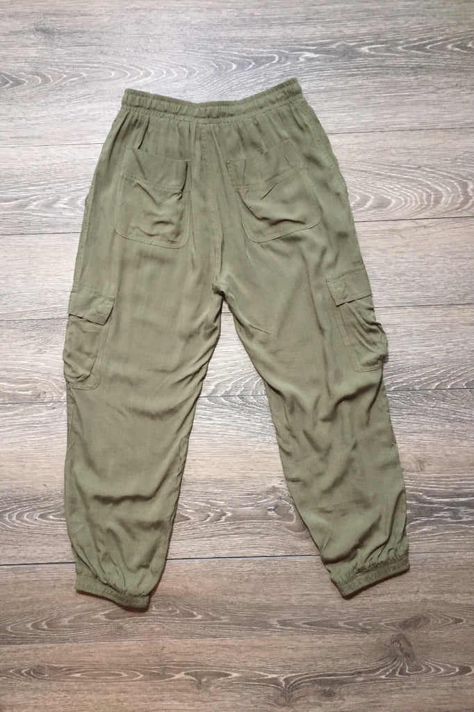 On the Boardwalk Olive Cargo Jogger Pants - Thread Affair