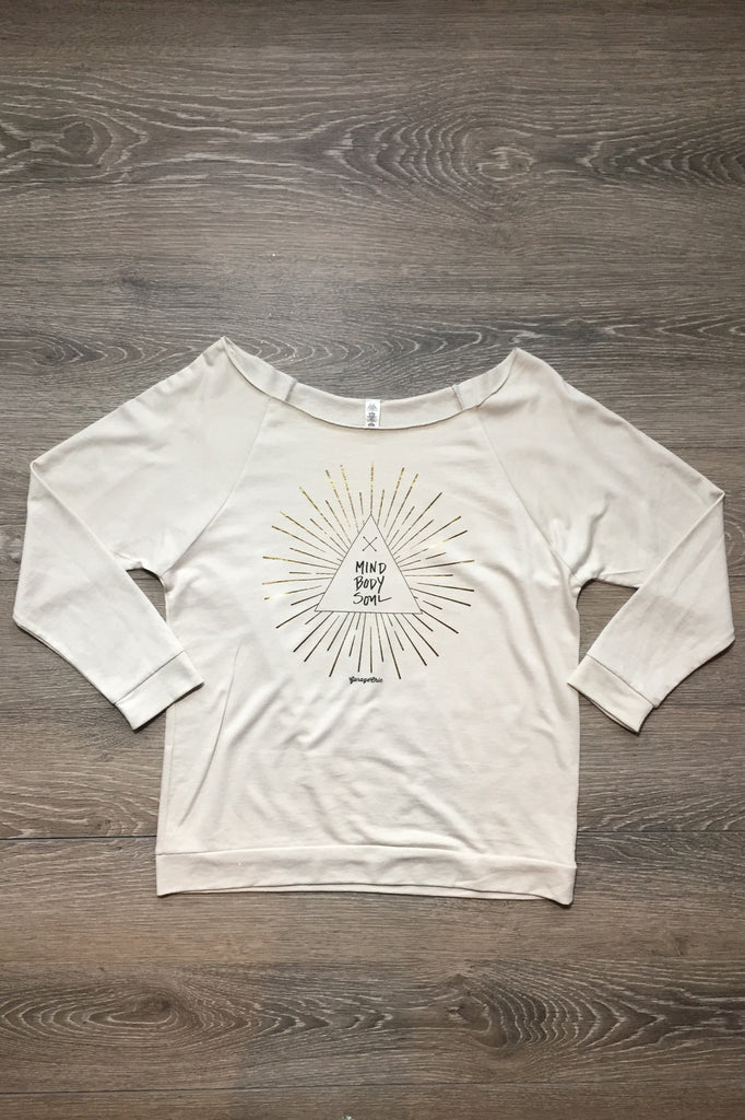 """Mind Body Soul"" Light Weight Sweatshirt - Thread Affair"