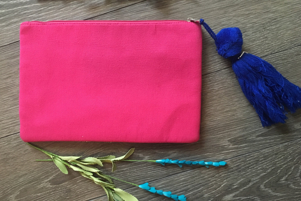 Embellished Beaded Clutch with Tassel - Thread Affair