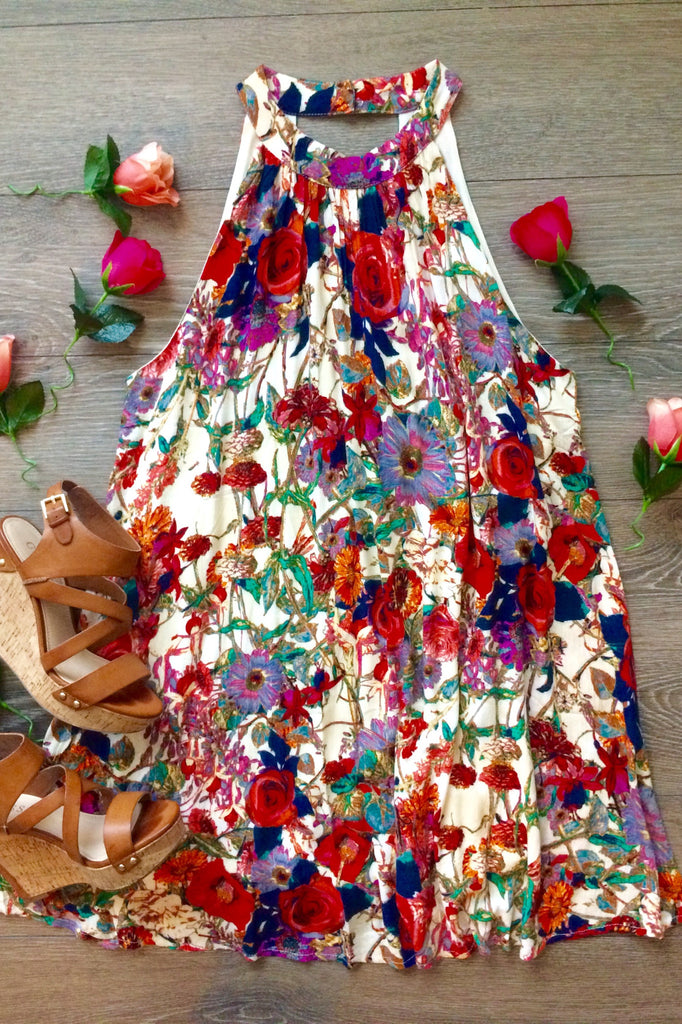 All My Roses Floral Dress - Thread Affair