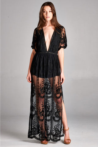 Moonlight Dreams Lace Ombre Dress