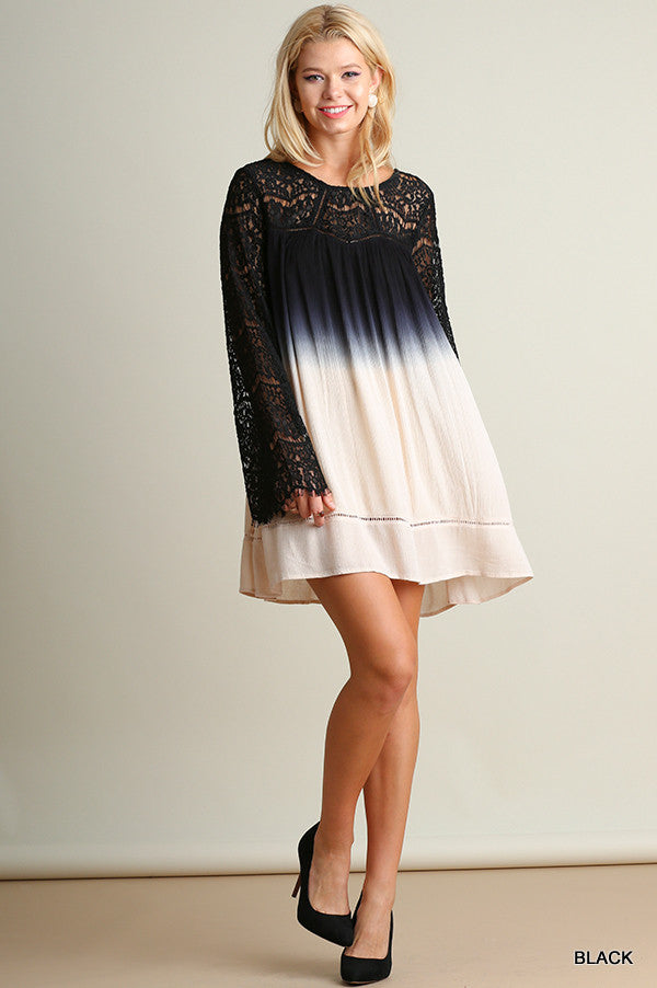 Moonlight Dreams Lace Ombre Dress - Thread Affair