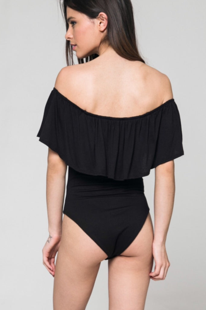 Bianca Off the Shoulder ruffle Bodysuit Top - Thread Affair