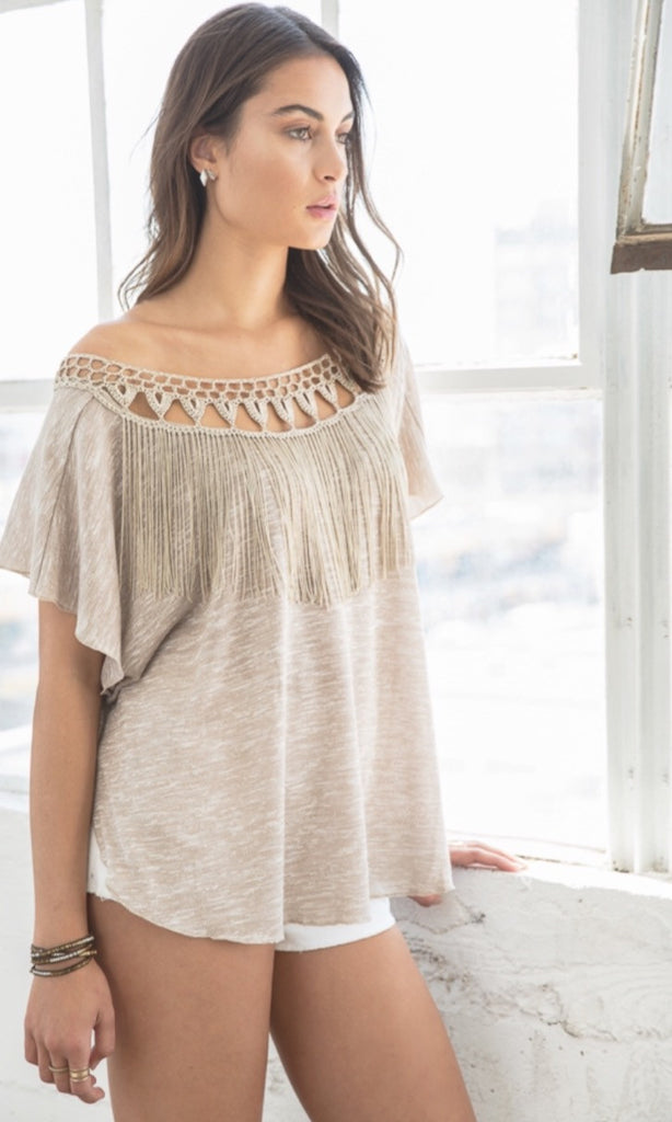 Hadley Fringe Drape Top - Thread Affair