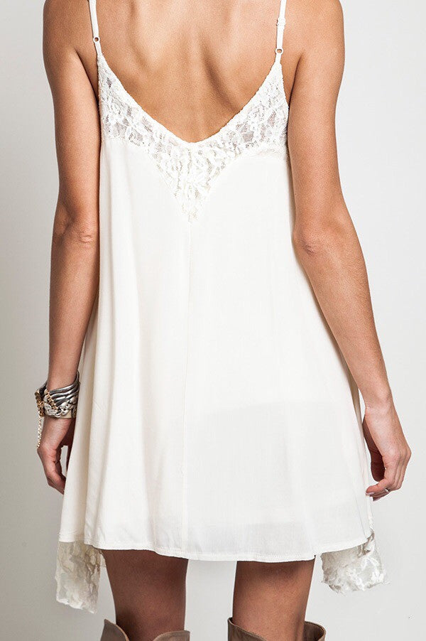 Chantilly Lace Dress- Ivory - Thread Affair