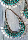 Exotic Charm Statement Coin Necklace - Thread Affair