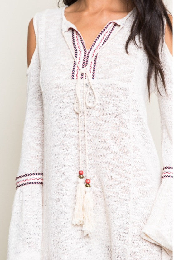Navajo Angel Tribal Knit Dress - Thread Affair
