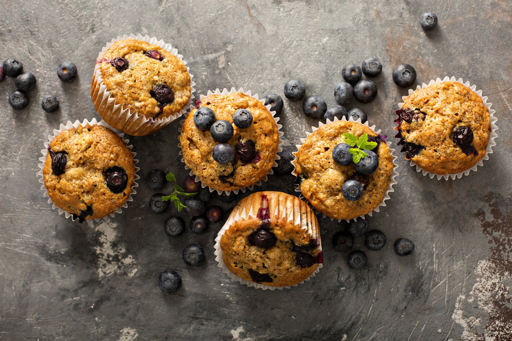 Blueberry and Ricotta Bran Muffin