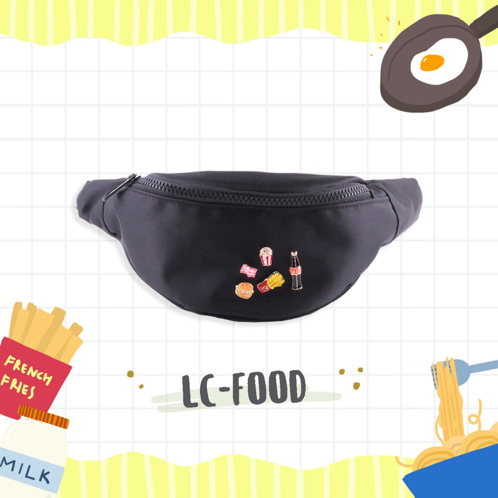 [Owlie Ellie] Food Patches Bumbag