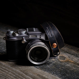 Thin Leather Camera Strap | Horween | Vintage | McMurray and Blonde