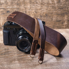 Leather Camera Strap | Horween | Wide | McMurray and Blonde