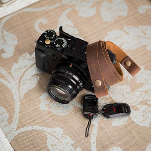 Peak Design Leather Camera Strap | Quincy St | Rustic