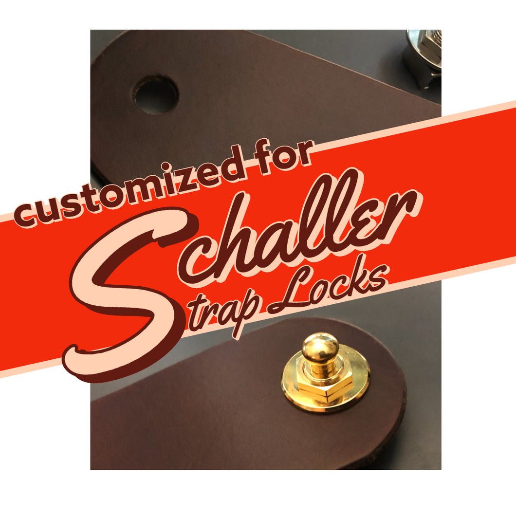 Guitar Straps Customization - Schaller Strap Lock Holes