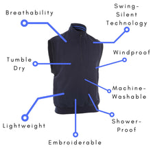 Men's Aquasoft Slipover Vest - ProQuip Golf USA - Golf Apparel, Men's Aquasoft Slipover Vest - Rain& Wind Gear