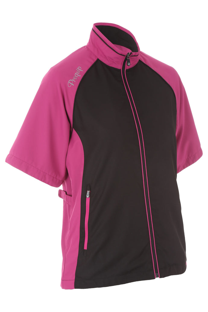 Women's Tara Ultralite Half-Sleeve Wind Top - ProQuip Golf USA - Golf Apparel, Women's Tara Ultralite Half-Sleeve Wind Top - Rain& Wind Gear
