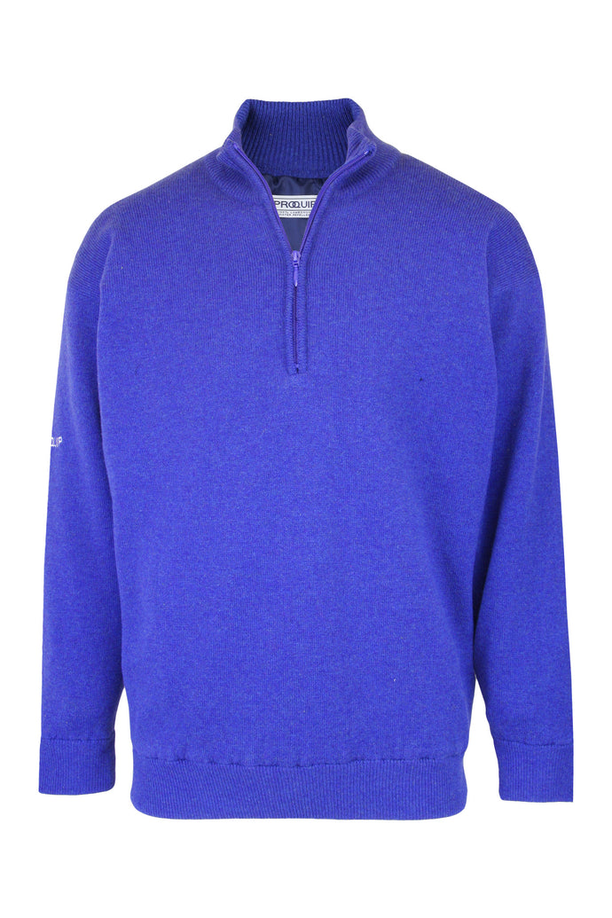 Half-Zip Lambswool Lined Sweater - ProQuip Golf USA - Golf Apparel, Half-Zip Lambswool Lined Sweater - Rain& Wind Gear