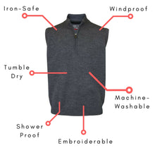 Men's Merino Wool Half-Zip Slipover Vest - ProQuip Golf USA - Golf Apparel, Men's Merino Wool Half-Zip Slipover Vest - Rain& Wind Gear